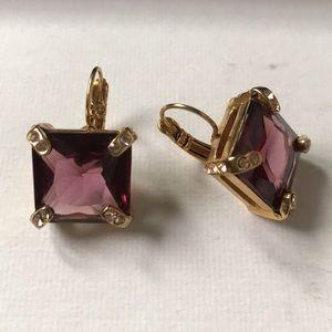 Kate Spade Purple Drop Earrings